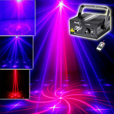 SUNY IR 3Lens 300mw 18 Gobo BR Laser BLUE LED Stage Lighting DJ Party Home Light