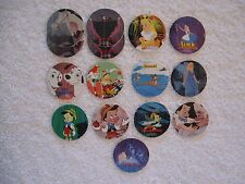 15 ~ Walt Disney Milkcaps Pogs Bottle Caps Slammers Boys & Girls