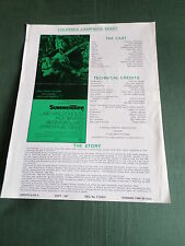 ORIGINAL CINEMA PRESS SHEET - SUMMERTREE - MICHAEL DOUGLAS