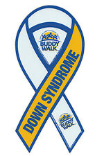 Magnetic Bumper Sticker - Down Syndrome (Down's) - Ribbon Shaped Support Magnet