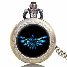 Charm Pocket Watch New Design The Legend of Zelda Pendant Necklace For Mens Boys