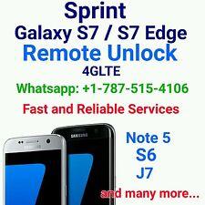 Samsung Sprint Galaxy S7, S7 Edge, S6, S6 Edge, S6 Edge+, Note 5 Remote Unlock