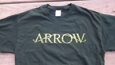 RARE Promotional ARROW Series TV Station T-Shirt Large DC Comics Superhero Green