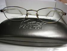CHRISTY BRINKLEY Eyeglass Frames SUAVE in  GOLD  52-19-135 With  Case New