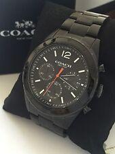 Coach Men's Sullivan Sport Chronograph Black Ion-plated Bracelet Watch 14602035