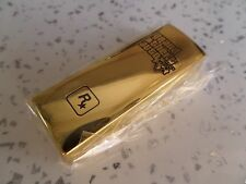 $$$$$$ GRAND THEFT AUTO V / 5 GOLD BAR 2GB USB STICK $$$$$ ROCKSTAR GAMES $$$$$$