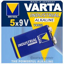 """""""5x VARTA Batterie 9Volt Block V4022 6LR61 INDUSTRIAL"""
