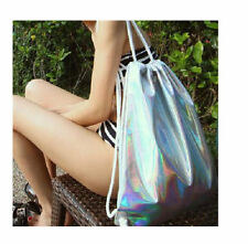 Hot!fashion Holographic Gammaray Silver Backpack Shoulder Bag Shopping bag