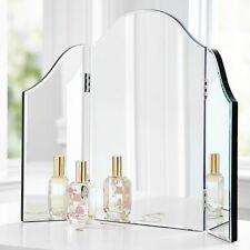 NEW Venetian Style Glass TriFold Vanity Table Top Makeup Mirror P3