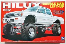 AOSHIMA pickup truck #6 1/24 TOYOTA HILUX double cab lift-Up '92 scale model kit