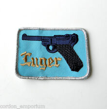 LUGER PARABELLUM PISTOL GUN NOVELTY EMBRODERED PATCH 2 X 3 INCHES