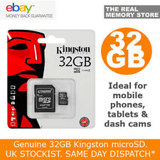 Genuine Kingston 32GB Micro SD Card and Adaptor for Sony Xperia M4 Aqua Z3 Z5 T3