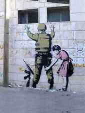 Banksy Soldier Searched By Beth A3 Sign Aluminium Metal Large