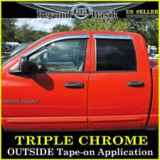 DODGE RAM 1500 2002-2008 Quad Cab 4pc Chrome Vent Door Visors Rain Guards