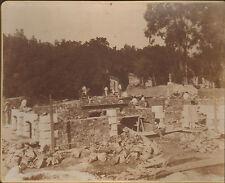 JUAN-LES-PINS PHOTO GRAND FORMAT CONSTRUCTION VILLA GALLICE 1899