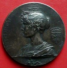 Médaille bronze art nouveau - XIIIéme EXPOSITION de BORDEAUX par RIVET 1895