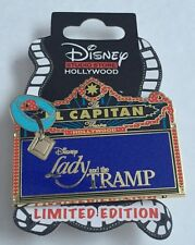 Disney DSF DSSH Lady and The Tramp El Capitan Theatre Marquee LE 400 Pin