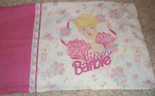 PILLOW CASE BARBIE PINK & WHITE, OR FOR CRAFTS, MATERIAL, SEWING, DRAPES