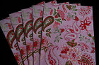 Indian Paper ~ Pink Paisley ~ 5 x A4 Sheets ~ Cardmaking, Wedding Invites, Craft