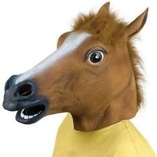 ADULT HORSE RUBBER HEAD MASK PANTO FANCY DRESS PARTY COSPLAY HALLOWEEN ACCESSORY