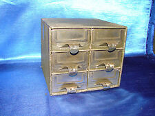 Vintage Mid-Century Industrial Steel 6 Drawer File Parts Box Addressellott