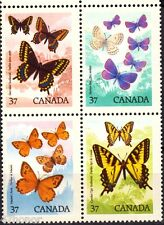 Canada 1988      Insects - Butterfly     Stamp Blk MNH