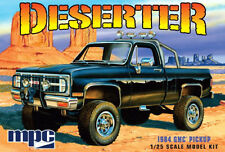 MPC 1/25 1984 GMC Pickup Deserter PLASTIC MODEL KIT MOLDED IN WHITE MPC847