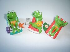 FUNNY FROGS BEACH FIGURINES SET ERDAL-REX - FIGURES COLLECTIBLES MINIATURES