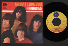 "7"" RAMONES BABY I LOVE YOU / DO YOU REMEMBER ROCK 'N' ROLL RADIO? ITALY 1980"
