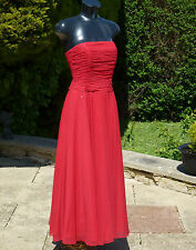 MONSOON RED SEQUIN STRAPLESS MAXI DRESS 08 PROM BRIDESMAID WEDDING CRUISE BALL