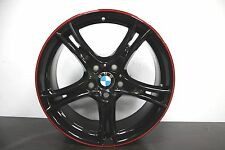 "1 x *NEW* Genuine Original BMW 1 2 Series F20 F21 361 19"" Black Red Alloy wheel"