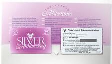 VISTA-UNITED PHONECARDS 25 minutes - 25 years Silver Anniversary with folder