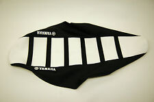 New Ribbed Yamaha Logo Seat Cover White/Black Ribs WR250F WR450F 2007-2011