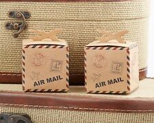 24 Adventure Airplane Kraft Favor Boxes Wedding Travel Theme Favors Q36526