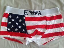 """Nouveau homme emporio armani boxer m/l 28-32"""" usa drapeau américain imprimer vente"""