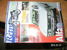 Retro Hebdo n°67 Alfa 2000 GT Veloce Alcyon 175 Course Lifting carrosserie