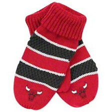 Chicago Bulls new NBA Womens Adidas Red Striped Knit Gloves One Size OSFA