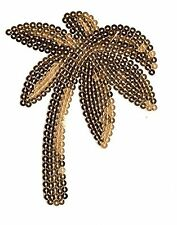 Gold Palm Tree Sequin Patch