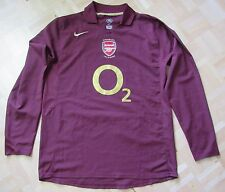 Arsenal FC GUNNERS SHIRT HIGHBURY 2005-2006 NIKE Long Sleeve SIZE L (adults)