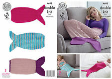 KING COLE KNITTING PATTERN 4692 MERMAID TAIL BABY TO ADULT DK