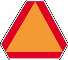 "Hy-Ko Sign TA-1 Orange 14"" X 16"" Slow Moving Vehicle Aluminum"