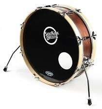 "Small Compact Bass Drum 6"" x 22"" Skinny Bass Drum Pro Red Mahogany finish"
