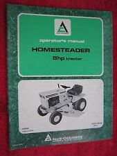 1973 ALLIS CHALMERS 8HP HOMESTEADER LAWN TRACTOR OPERATORS MANUAL