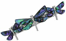 Dragonfly Hair Barrette Wheeler Colorful Insect Iridescent Abalone Shell China