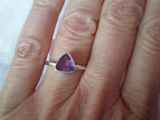 Brazilian Amethyst ring, 0.88 carats size N/O, in 2 grams of 925 Sterling Silver