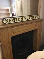Manchester United Newton Heath Old Trafford Alex Ferguson Wooden Carved Sign