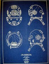 """US Navy Mark V DIVING HELMET 1938 Blueprint Navy Hull Standard 13""""x18""""   (238)"""