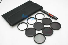 58mm IR720+IR850+IR950 IR Infrared +Star 4X 6X 8X+ND 2 4 8 filter set +LENS PEN