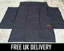BLACK CAR BOOT + BUMPER LINER PROTECTOR COVER DOG GUARD MAT - FITS AUDI A4