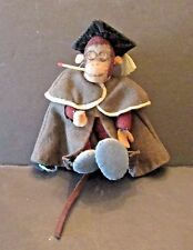 Vintage Felt German? Monkey Professor With Cape and Mortar Board Toy Match